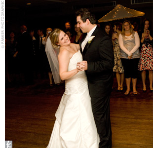 "The couple shared their first dance to ""Thank You (For Loving Me)"" by Bon Jovi."