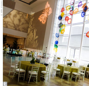 Sodexo at the Dallas Museum of Art provided a dramatic space for the green celebration.