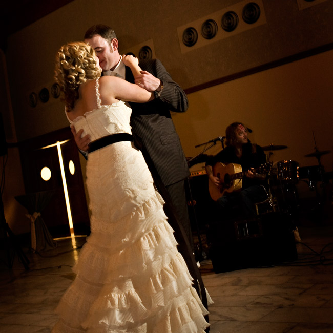 """Feet Don't Touch the Ground"" was the couple's first dance song and one of the themes of their wedding, cowritten by one of the musicians the bride and groom had just seen in concert when Todd proposed. The original artist, Stoney Larue, performed it live for the wedding, which featured all original Texas music."