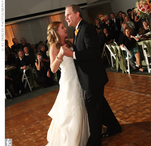 "The couple danced to Jack Johnson's ""Better Together."""