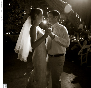 "The couple danced their first dance as husband and wife to ""Guilty of Loving You"" from the movie Amelie."