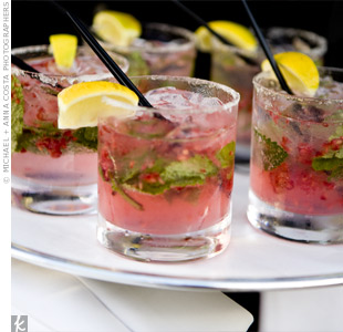 Guests listened to Latin jazz as they sipped raspberry mojitos during the cocktail hour.