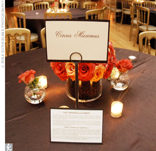 Inspired by Italy, tables were named after the Roman Colosseum, Circus Maximus, the Trevi Fountain and other notable sites.