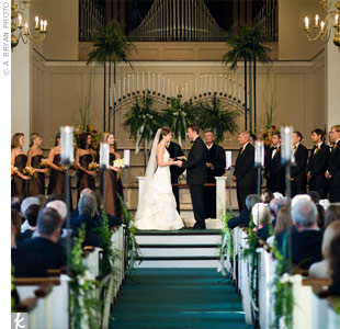 Brittany and Cooper exchanged personalized vows in a church ceremony.