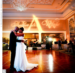 "The newlyweds took a spin to ""Let Me"" by Sergio Mendes for their first dance."