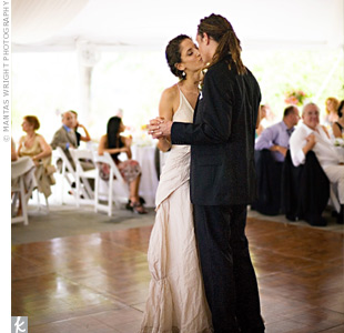 Ariana and Andrew had their first dance to The Beatles&#39; &quot;In My Life,&quot; performed live by close friends.