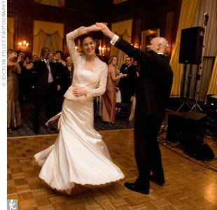 "The Central Park Orchestra learned new songs at Caroline and Jeff's request, including their first dance song ""Fever"" by Peggy Lee."