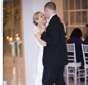 "Linda and John spent many late nights practicing their first dance in their Manhattan apartment. Practice certainly made perfect, when they finally took the floor at their reception. The couple danced a rumba to the song ""Thank You"" by Dido."
