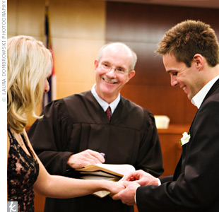 The couple asked Judge Paul King to officiate the wedding ceremony.