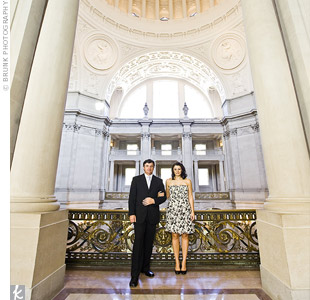 After the ceremony, the couple's photographer Clifford Brunk from Brunk Photography, took shots of them in and around city hall.