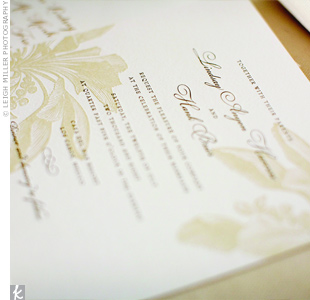 Each of the handmade ceremony programs included a personal note to guests as well as some of the couple's favorite quotes. The starfish stamp detail coordinated nicely with the beach theme.