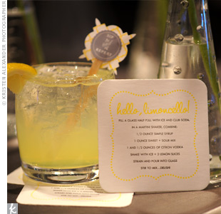 Coasters provided guests with the recipe for their tasty limoncello cocktails.