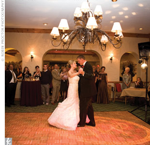 "The couple chose a DJ because of space limitations, ""and we are so glad we did,"" says Suzanne. He played a variety of genres that kept guests on the dance floor all night long."