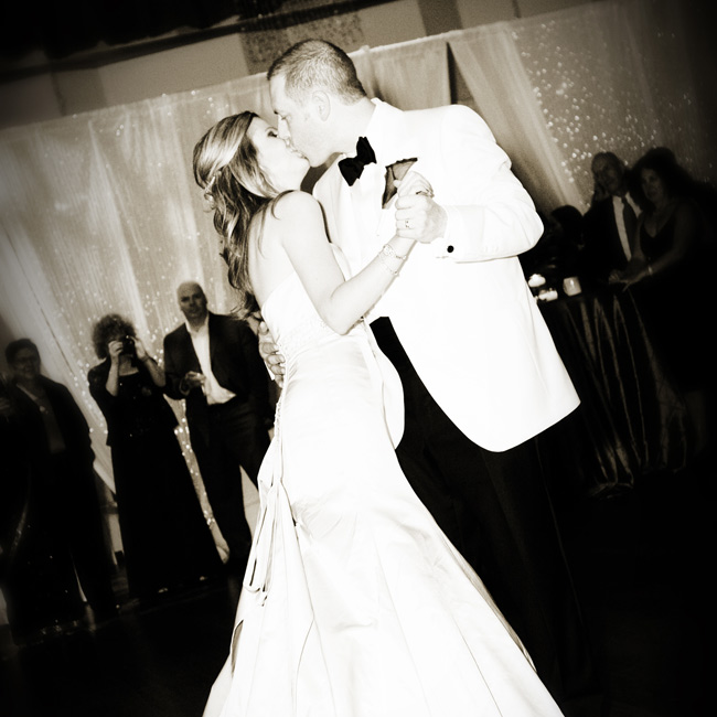 "Candice and Aaron danced to ""Love Will Tear Us Apart,"" by INXS, a fitting choice for their contemporary party."