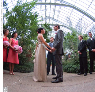 Melissa and Ivo exchanged vows surrounded by lush greenery in the botanical gardens. Instead of decorating, they let the natural beauty of the setting speak for itself.