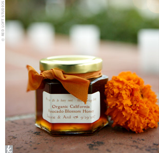 Anil and Laurie thanked their guests with jars of locally made, organic avocado honey.