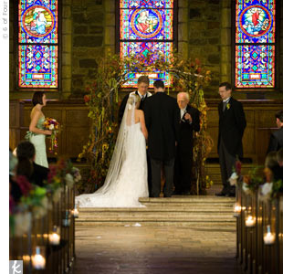 "Though their vows were traditional, the coupled customized their ceremony by asking Elizabeth's grandfather, a minister, to read a prayer. For the recessional, the couple played ""All I Ask of You,"" from Phantom of the Opera—it became ""their song"" when they heard it on a trip to see the show in New York City the spring before their wedding."
