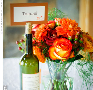 Cards nestled into wine corks displayed the table names, and were named after Frogtown Cellars' award-winning wines.
