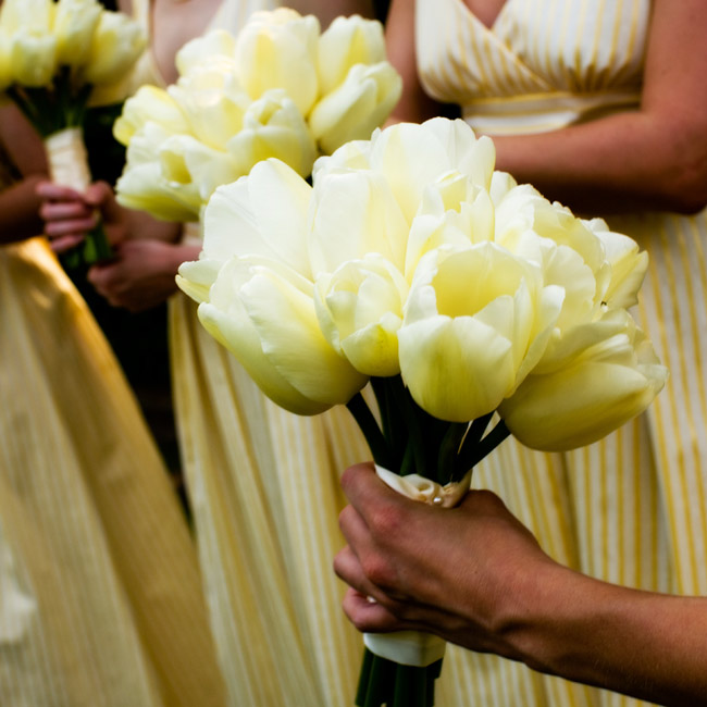 Yellow Tulip Bridal Bouquet The bridesmaid bouquetsYellow Tulip Bouquet