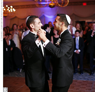 "Brian and Josh choreographed their first dance to ""Glory of Love,"" by Peter Cetera."