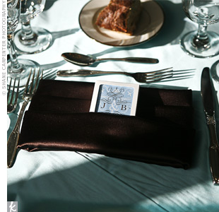 In honor of Atlantic City, guests received decks of playing cards with Josh's and Brian's initials and the date of the wedding on the front of each card.