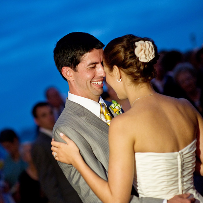 """The band played Paul McCartney's """"Maybe I'm Amazed,"""" for the couple's first dance. Marissa and Michael were less traditional with their ceremony music, which included lots of Beatle's tunes along with music by Led Zeppelin, The Mamas and The Papas, and for the bride's processional, """"Edelweiss,"""" from The Sound of Music."""