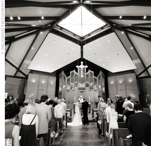 Kristin and Matthew exchanged vows in front of friends and family at Christ Church.