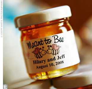 """My grandparents made the best honey in the world,"" says Hilary, who chose to honor them with honey jar takeaways."