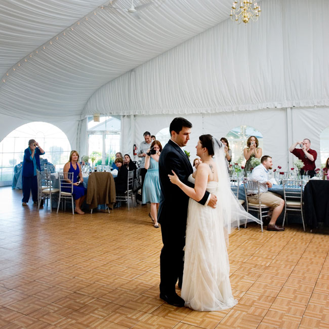 "The 80s cover band, Judo Chop, ventured into the 90s for the couple's first dance: the UB40 version of Elvis Presley's ""Can't Help Falling in Love,"" which Crystal describes as ""the most romantic song in the world."""