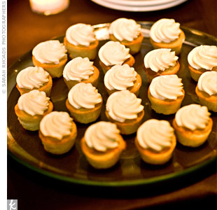In addition to the decadent cake, guests also enjoyed mini lemon cupcakes as part of the dessert buffet.