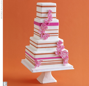 Wedding Cake Trend #3: Playful Lines