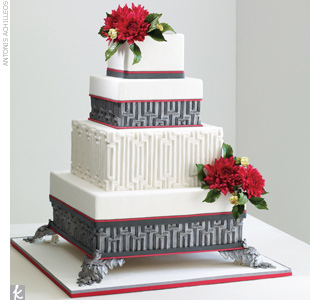 Wedding Cake Trend #4: Dramatic Color