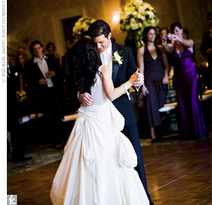 "For their first dance, the couple chose ""Everything,"" by Michael Buble. They decided to use the original recording instead of asking their band to perform it."