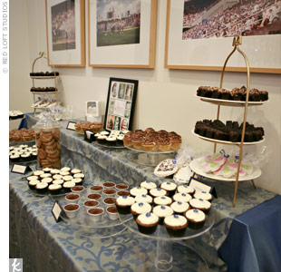 Those looking for a sugar rush fueled up with tasty treats from the dessert buffet and chocolate fountain.