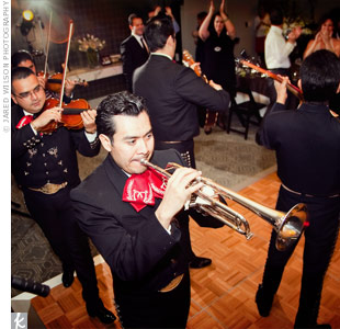 A mariachi group surprised everyone at the end of the night with entertainment to wrap up the dancing.