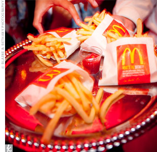 At midnight, guests were served Anh's favorite food: McDonalds' French fries!
