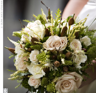 wedding flowers with cattails