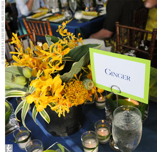 To carry the theme throughout the evening, each table was named after a different tropical flower.