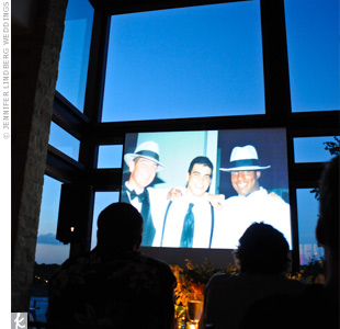 After dinner, guests watched a slideshow that featured photos from the couple's lives.
