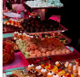At the end of the evening, guests were treated to a dessert bar filled with fruit tarts, mini eclairs, truffles, and more.