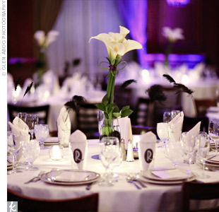 White Calla Lily Wedding Centerpieces
