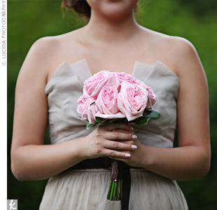 Pink Rose Bridesmaid Bouquet