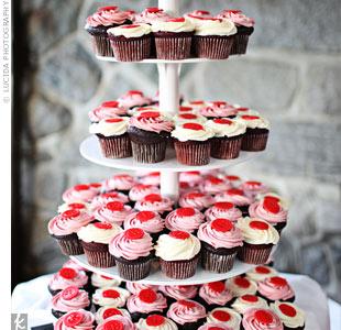Red Velvet Wedding Cupcakes