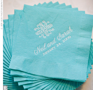 Blue Wedding Napkins