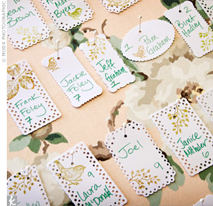 Vintage Wedding Escort Cards