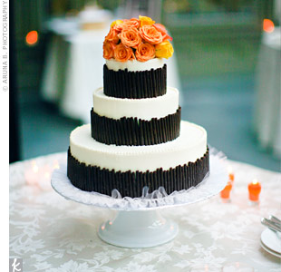 Orange and Chocolate Wedding Cake