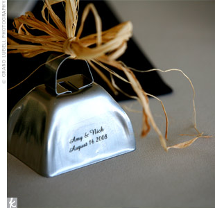 Keeping with the Western theme, each guest took home a personalized cowbell as a favor.