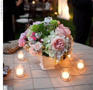 Pink Wedding Centerpieces