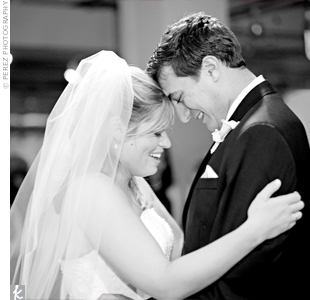 """The band played Allison Krauss' """"When You Say Nothing at All"""" for the couple's first dance."""