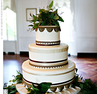 Brown Wedding Cake